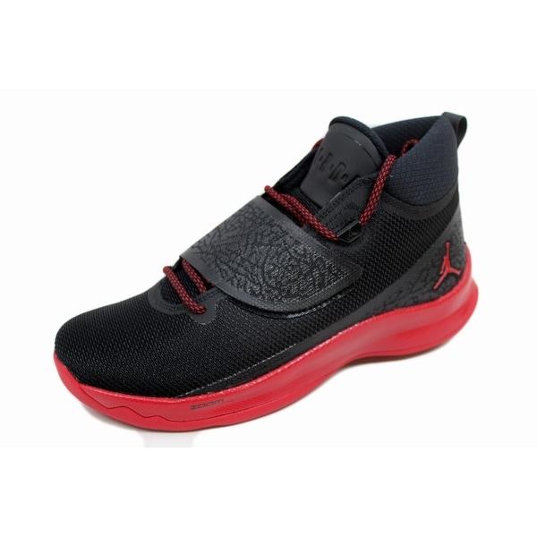 Nike Men's Air Jordan Super Fly 5 PO Black/Gym Red-Gym Red 881571-002