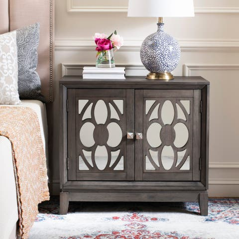 Safavieh Shannon 2 Door Chest - Grey Wash Walnut / Mirror