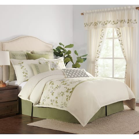 Gwyneth 4-piece Embroidered Floral Comforter Set