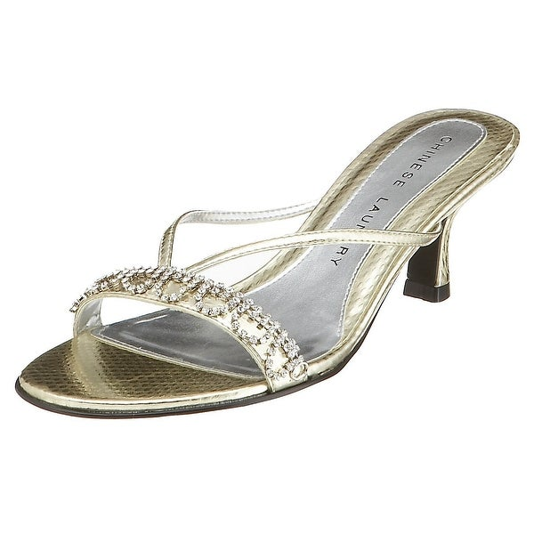 Chinese Laundry Womens jello Open Toe Casual Slide, Light Gold, Size 10.0 - 10