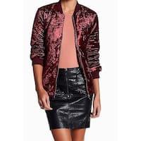 Romeo + Juliet Women's Medium Velvet Bomber Jacket