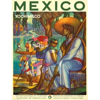 Mexico - Xochimilco - (c. 1941) - Vintage Advertisement (Playing Card Deck - 52 Card Poker Size with Jokers)
