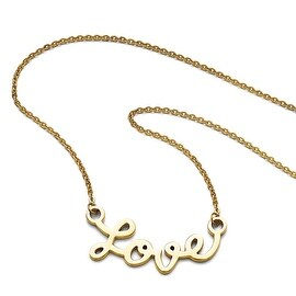 Chisel Stainless Steel Polished Yellow IP-plated Love Necklace - 18.5 in
