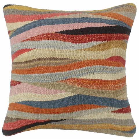 Turkish Shabby Chic Beasley Hand Woven Kilim Pillow