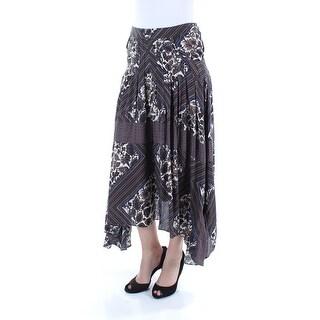 FREE PEOPLE $128 Womens New 4383 Brown Printed Pocketed Paneled Maxi Skirt 4 B+B