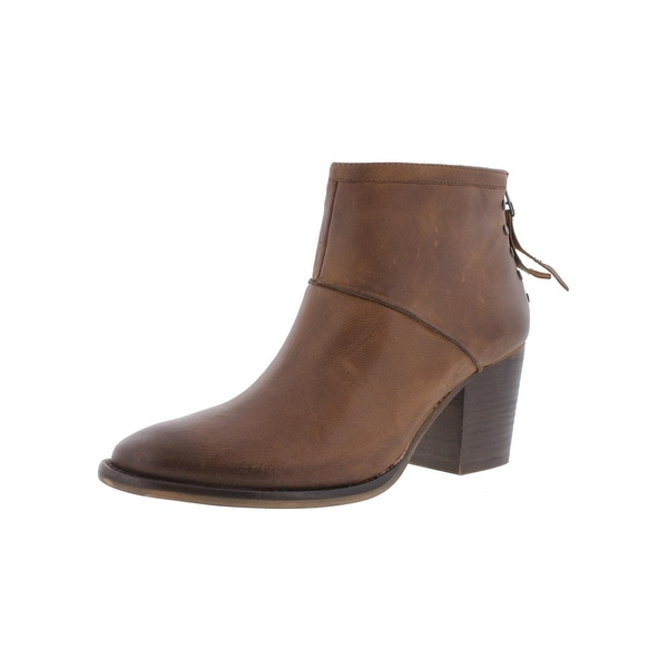 Steve Madden Womens Reggy Booties Leather Stacked