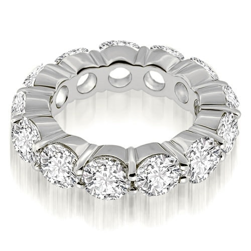 5.25 cttw. 14K White Gold Round Cut Diamond Eternity Ring