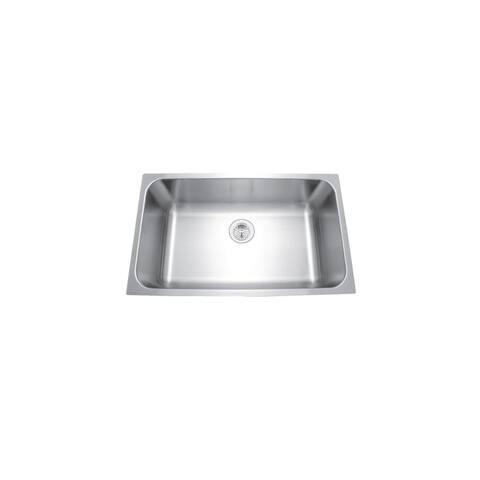 """Mirabelle MIRUC309 30"""" Single Basin Stainless Steel Kitchen Sink - Undermount Installation -"""