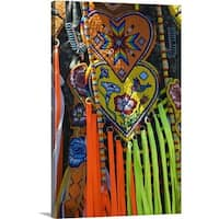 Premium Thick-Wrap Canvas entitled Native american indian ceremonial costume, detail.