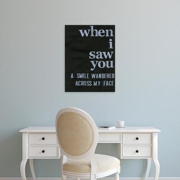 Easy Art Prints Deborah Velasquez's 'When I Saw You... II' Premium Canvas Art