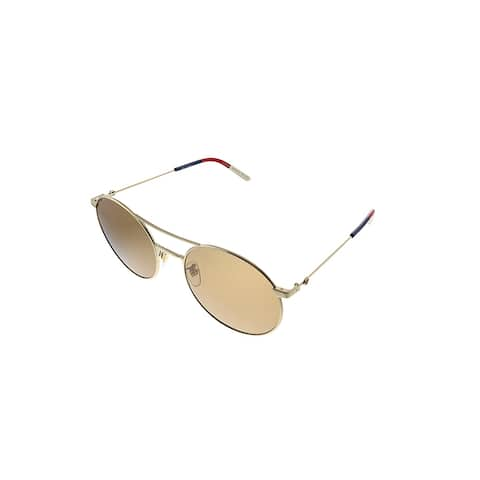 Gucci GG 0680S 003 Womens Gold Frame Brown Polarized Lens Sunglasses