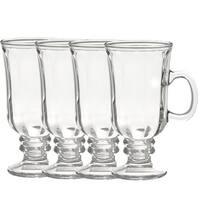Style Setter Optic Irish Coffee Mugs Clear Glass Set of 4