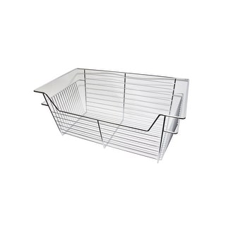 """Easy Track 9211  11"""" Tall Basket for Easy Track Closet System - Chrome"""