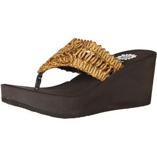 Yellow Box Womens Jairren Fashion Wedge Sandals