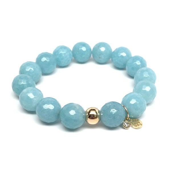 "Light Blue Quartz Lauren 7"" Bracelet"