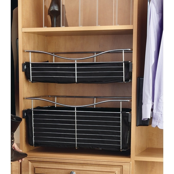 Rev A Shelf Cb 301207 Series 30 X 12 7 Wire Pull Out Closet Basket Chrome Free Shipping Today 17137767