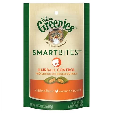 Greenies SmartBites Hairball Control Chicken Flavor Cat Treats 2.1 oz