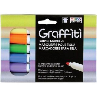Graffiti Fabric Markers 6/Pkg-Pastels