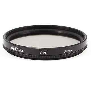 Unique Bargains 52mm Circular Polarizing CPL Lens Filter Protective Black for Digital Camera