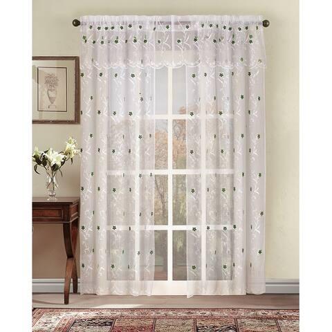 Astor 63-Inch Sheer Window Curtain Panel