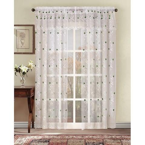 Astor 95-Inch Sheer Window Curtain Panel