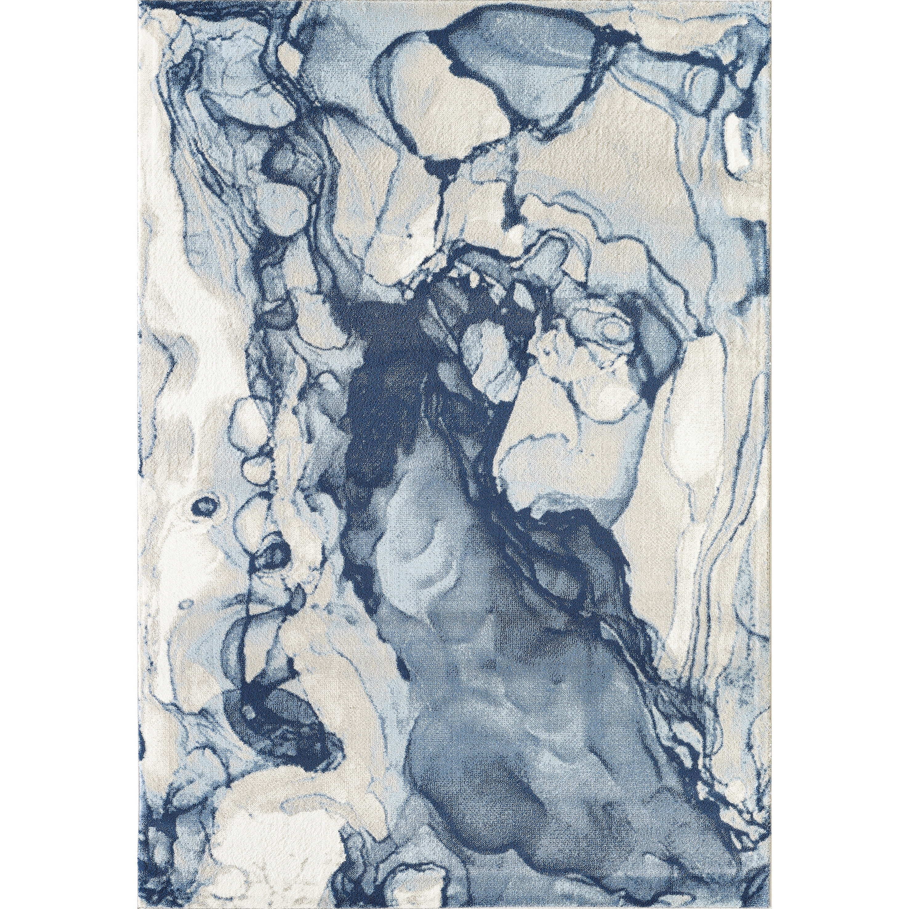 Abani Arto Contemporary Rectangle Abstract Liquid Marble Blue Area Rug Overstock 29935451