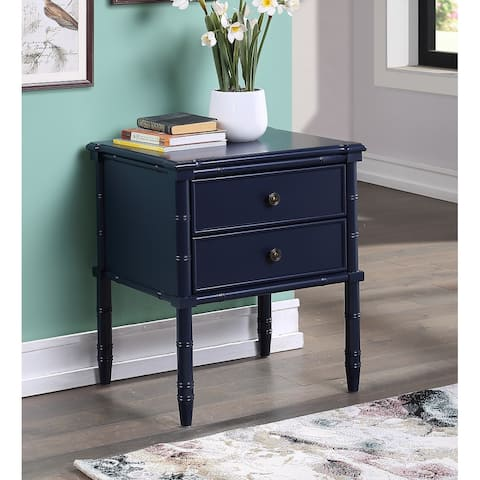 Ettington 2-Drawer Bamboo Carved Nightstand by Greyson Living