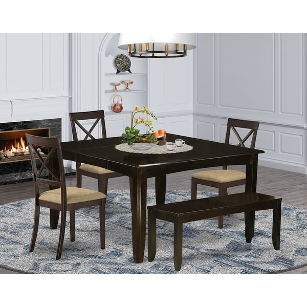 Cappuccino Wood Expandable Dining Set Overstock 14366631