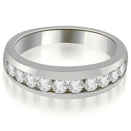 0.65 cttw. 14K White Gold Channel Set Round Cut Diamond Wedding Band