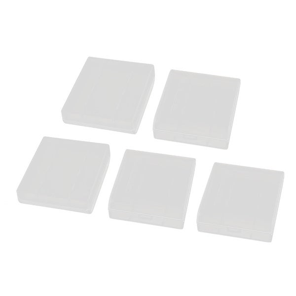 5Pcs Transparent Storage Case Plastic Battery Holder Organizer for AAA Batteries