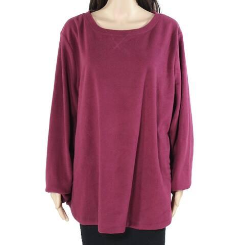 Karen Scott Women's Sweater Purple Size Medium M Microfleece Pullover