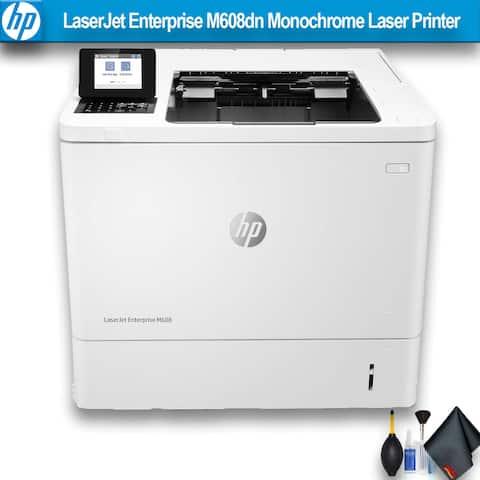 HP LaserJet Enterprise M608dn Monochrome Laser Printer Bundle