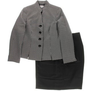 Le Suit Womens Textured Lined Skirt Suit
