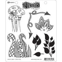 """Dyan Reaveley's Dylusions Cling Stamp Collections 8.5""""X7""""-Doodle Parts"""