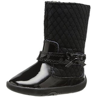 Pediped Naomi Infant Girls Quilted Boots - 3.5 medium (b,m)