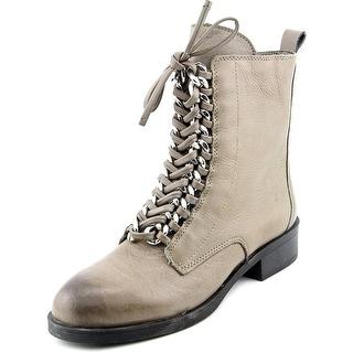 Fergie Nemo Women Round Toe Leather Gray Boot
