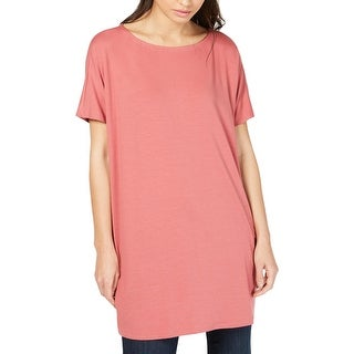 Eileen Fisher Womens T-Shirt Tencel Tunic - Chuty