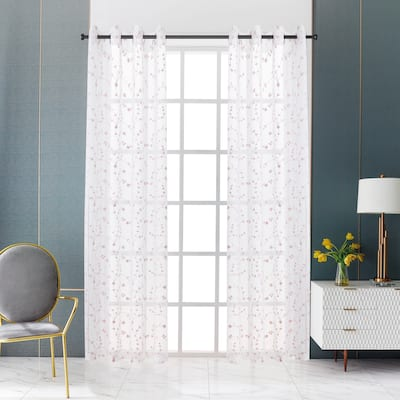 Lyndale Joy Embroidered Sheer Curtain
