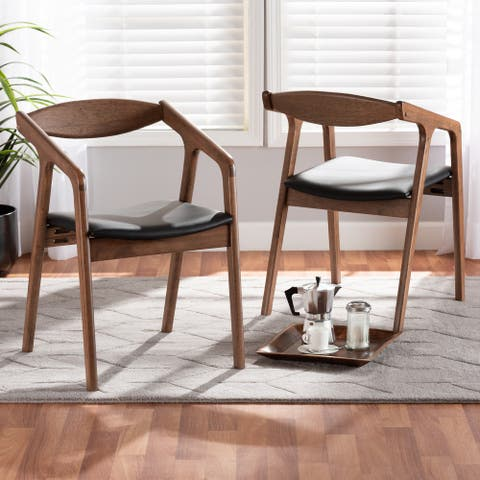 Harland Mid-Century Modern 2-Piece Dining Chair Set