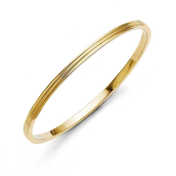 Chisel Stainless Steel Yellow IP-plated Bangle