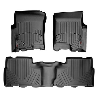 WeatherTech 44082-1-2 Black Front & Rear FloorLiner: Ford Expedition 1997 - 2002