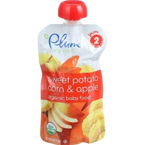 Plum Organics - Sweet Potato, Corn & Apple Baby Food ( 6 - 4 OZ)