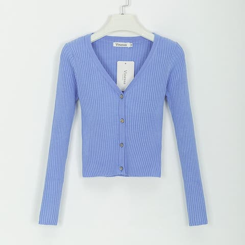New Thin Sweater Cardigan Women's Short Sweater Small Shawl Coat With Long Sleeves