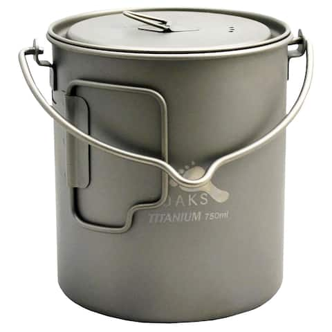 TOAKS Titanium 750ml Pot with Bail Handle POT-750-BH - Outdoor Camping Cup Bowl