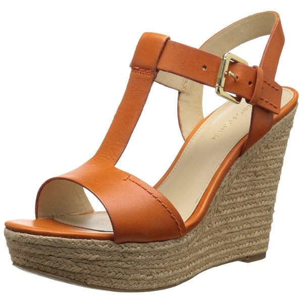 Marc Fisher Womens Harlei Leather Open Toe Casual Platform Sandals