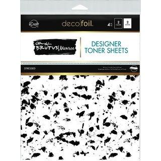 "Brutus Monroe Deco Foil Toner Sheets 8.5""X11"" 4/Pkg-Stressed"