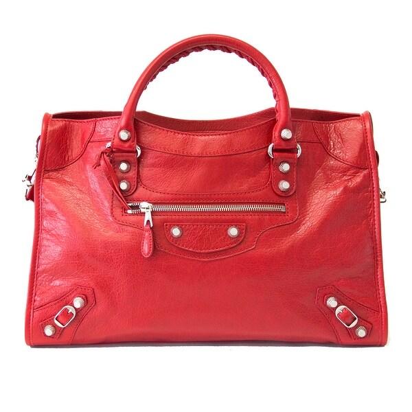 Balenciaga Giant 12 City Handbag Red