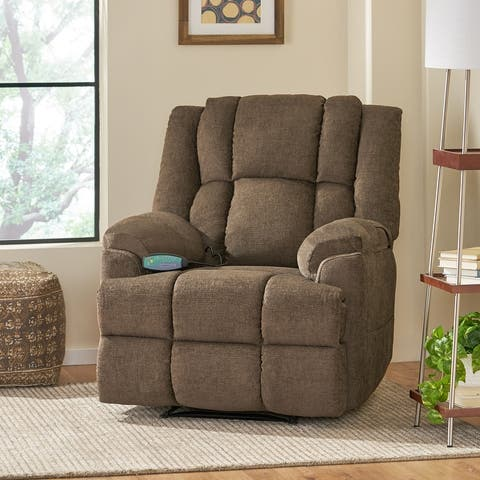 Coosa Indoor Pillow Tufted Massage Recliner by Christopher Knight Home