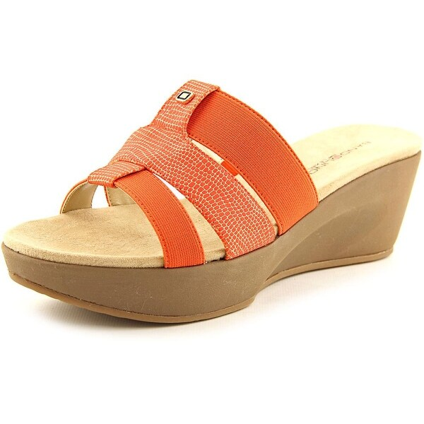 Bandolino Doveva Women  Open Toe Synthetic Orange Wedge Sandal
