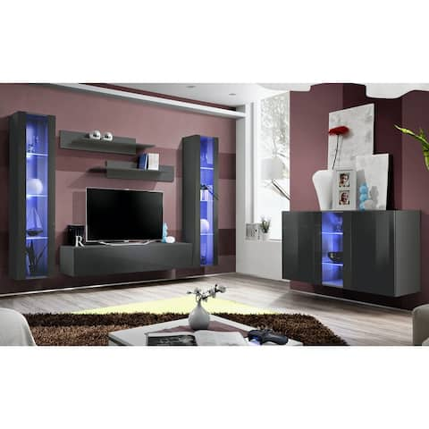 Fly SBI-A2 Wall Mounted Floating Modern Entertainment Center